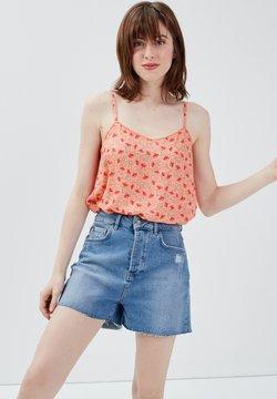 BONOBO Jeans - MIT DÜNNEN RIEMEN - Top - rose corail