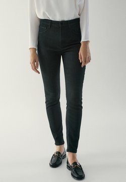 Massimo Dutti - HOHEM BUND - Jeans Skinny Fit - black