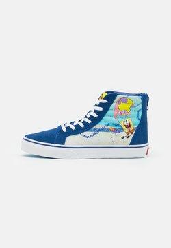 Vans - JN VANS X SPONGEBOB SK8-HI ZIP UNISEX - Sneakers alte - dark blue/multicolor