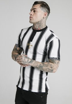 SIKSILK - Print T-shirt - black  white