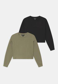 New Look 915 Generation - PLAIN 2 PACK - Collegepaita - black/khaki