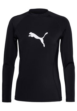 Puma - SWIM WOMEN LONG SLEEVE RASH GUARD - Haut de bikini - black