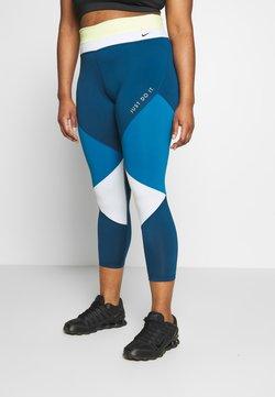 Nike Performance - ONE PLUS - Trikoot - limelight/valerian blue/aura/black
