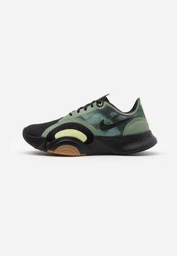 Nike Performance - SUPERREP GO - Sports shoes - black/spiral sage/med brown