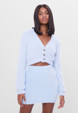 Bershka - FUZZY - Neuletakki - light blue