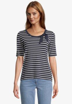 Betty Barclay - T-Shirt print - dunkelblau weiß