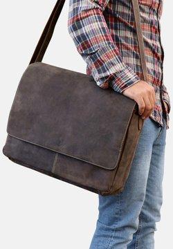 SID & VAIN - MESSENGER BAG - SPENCER - Notebooktasche - dunkelbraun
