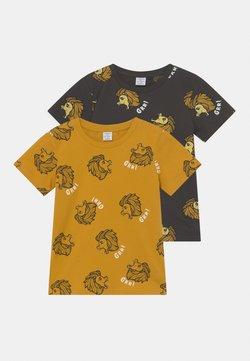 Lindex - STREET 2 PACK UNISEX - T-shirt med print - dark grey
