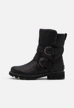 Sorel - LENNOX MOTO BOOT COZY - Cowboy-/Bikerstiefelette - black