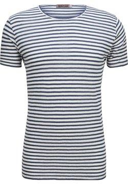 Greta & Luis - T-Shirt print - white blue stripe