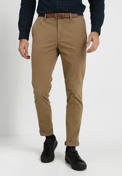 Selected Homme - SLHSLIM JAMERSON PANTS - Chino - dark camel