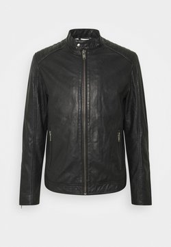 Selected Homme - SLHICONIC RACER - Giacca di pelle - black