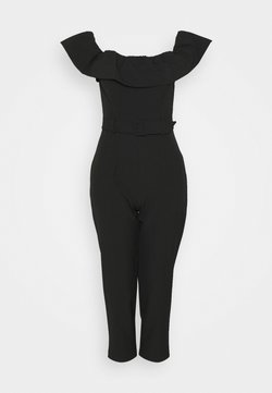 Miss Selfridge Petite - BARDOT JUMPSUIT - Combinaison - black