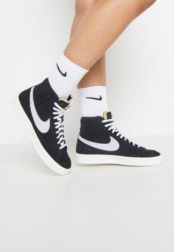 Nike Sportswear - BLAZER MID '77 - Korkeavartiset tennarit - black/pure platinum/sail/white