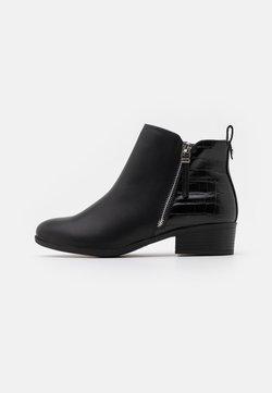 Dorothy Perkins Wide Fit - WIDE FIT MACRO SIDE ZIP  - Ankle Boot - black