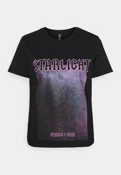 Pieces Petite - PCDREA TEE  - T-shirt print - black/starlight
