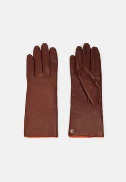 Kessler - Gloves - tobacco/vermillion orange