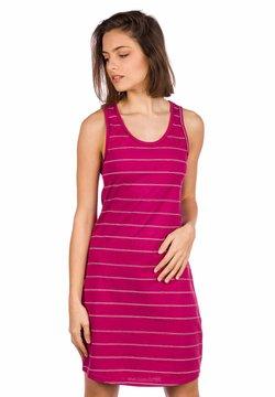 Kazane - Jerseykleid - beaujolais/stripe
