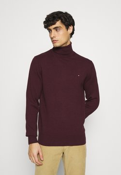 Tommy Hilfiger - PIMA ROLL NECK - Pullover - deep burgundy heather