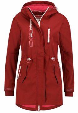 Sublevel - Regenjacke / wasserabweisende Jacke - rot