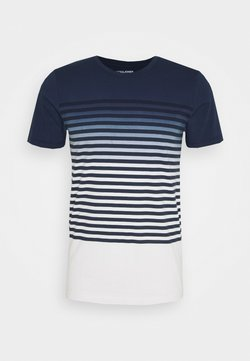 Jack & Jones - JORGRADE TEE CREW NECK - Print T-shirt - navy blazer