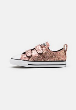Converse - CHUCK TAYLOR ALL STAR GLITTER  - Baskets basses - bright coral/silver/black