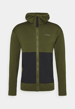 adidas Performance - BACK-TO-SCHOOL URBAN PRIMEGREEN OUTDOOR RELAXED MIDWEIGHT - Fleecejacke - wild pine/black