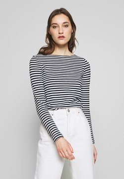 Marc O'Polo - LONG SLEEVE BOAT NECK STRIPED - T-shirt à manches longues - multi/night sky