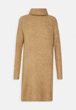 ONLY Tall - ONLJANA COWLNCK DRESS  - Gebreide jurk - indian tan melange