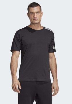adidas Performance - ADIDAS Z.N.E. 3-STRIPES T-SHIRT - Printtipaita - black