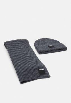 Replay - HAT SCARF SET - Schal - grey melange