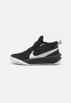 Nike Performance - TEAM HUSTLE D 10 UNISEX - Chaussures de basket - black/metallic silver/volt/white