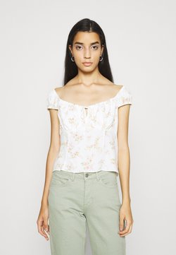 Forever New - AMANDA SWEETHEART TIE FRONT - Bluse - apricot blush