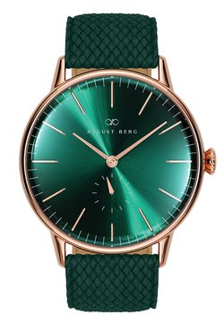 August Berg - UHR SERENITY GREENHILL EYE DARK GREEN PERLON 40MM - Montre - sunray green