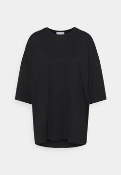 NU-IN - OVERSIZED CREW NECK  - T-shirt basic - black