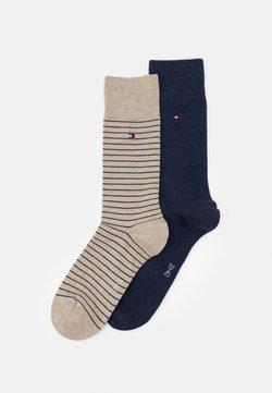 Tommy Hilfiger - MEN SMALL STRIPE SOCK 2 PACK - Socken - beige/blue