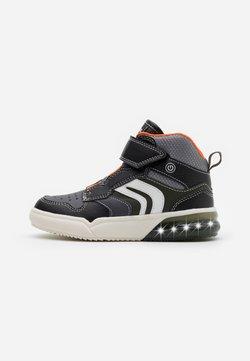 Geox - GRAYJAY BOY - Sneakers hoog - black/orange