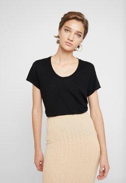 American Vintage - JACKSONVILLE ROUND NECK - T-shirt basique - noir