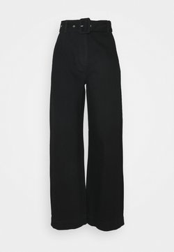 Selected Femme - SLFWILLOW PANT - Flared Jeans - black denim