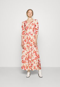 byTiMo - DELICATE ROUCHING DRESS - Maxikleid - red