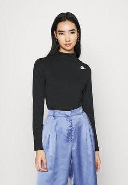 Nike Sportswear - MOCK - Langærmede T-shirts - black/white