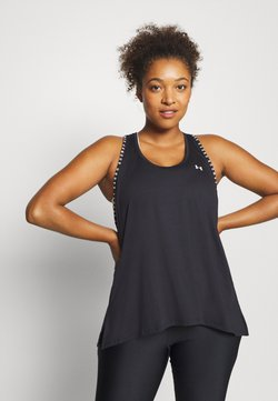Under Armour - KNOCKOUT TANK - Camiseta de deporte - black