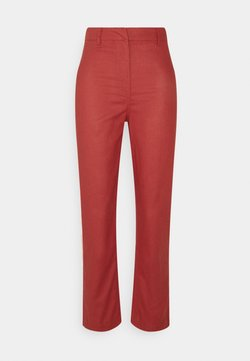 Missguided - STRAIGHT LEG HIGH WAIST - Trousers - red