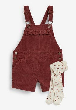 Next - DUNGAREES AND TIGHTS SET - Salopette - red