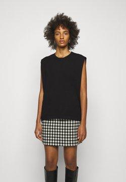DESIGNERS REMIX - MANDY MUSCLE TEE - T-shirt z nadrukiem - black