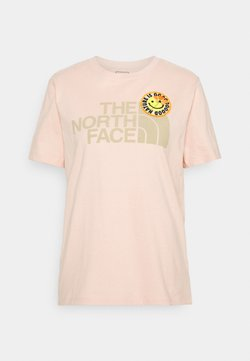 The North Face - PATCHES TEE  - Print T-shirt - evenng sand