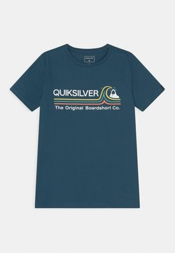 Quiksilver - STONE COLD FLAXTON YOUTH - T-shirt print - majolica blue