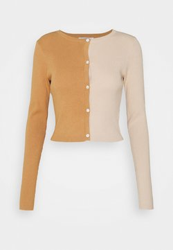 Glamorous Tall - COLOUR BLOCK - Gilet - burnt rust beige