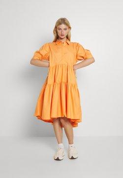 Missguided - OVERSIZED SHIRT MIDI DRESS - Maxikleid - orange