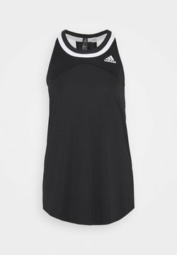 adidas Performance - CLUB TANK - Funktionströja - black/white